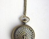 Pocket Watch Peacock, Pocketwatch Antique Brass, Vintage Look Clock, Necklace Pocketwatch, Working Watch Peacock Bird(PW37)