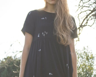 Hand Painted Badger Smock Dress