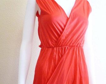 Wrap Red Nightgown Gown Cattani of California Small