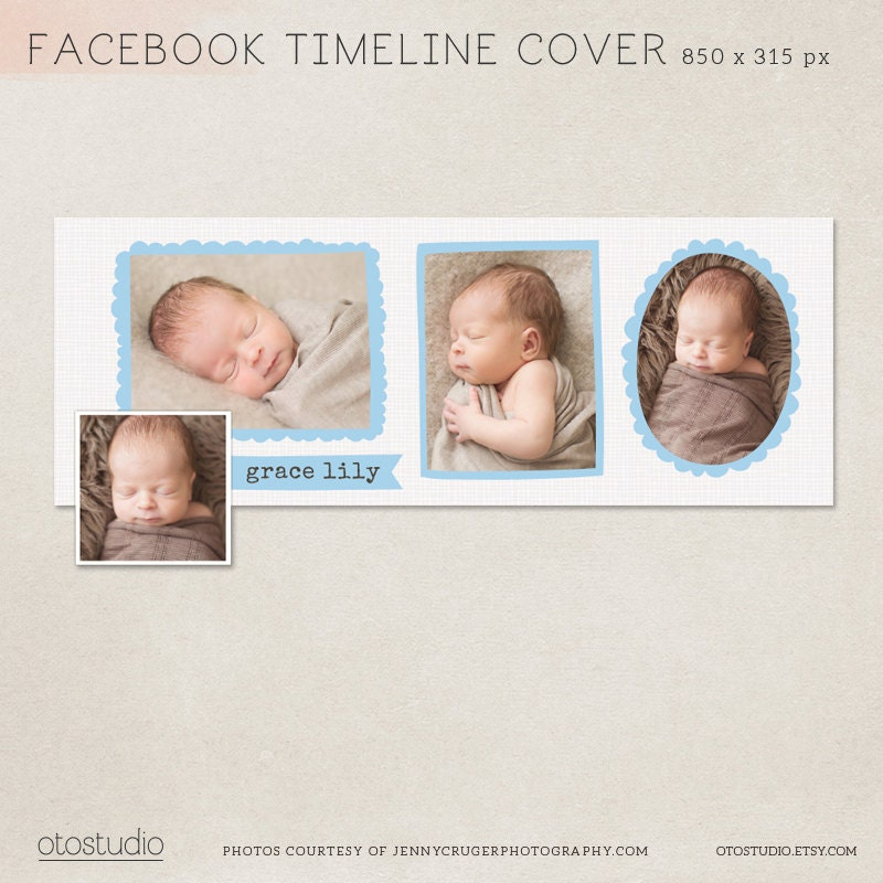 facebook timeline cover birth announcement psd template. Black Bedroom Furniture Sets. Home Design Ideas