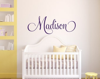 Ordinaire Personalized Childrens Wall Decal   Girls Name Wall Decal   Nursery Wall  Decal   Personalized Name