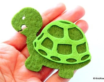 Tortoise Felt Applique Patch