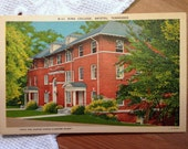 Vintage Postcard, King College, Bristol, Tennessee - 1940s Linen Paper Ephemera
