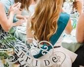 Mariée à être Mini bannière, jeune mariée pour être Président signe, Décorations nuptiales de douche, douche nuptiale bannières, personnaliser vos couleurs, douche nuptiale Teal