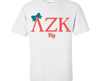 2 big little sorority shirts bundle sorority sister gift for Cute greek letter shirts