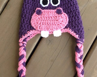 Hippo Hat, Crochet Hippo Hat, Crochet Kids Hat, Baby HippoHat, Hippo Hat For Baby
