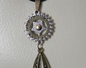 Steampunk drop pendant