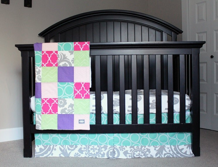 Custom Crib Bedding RESERVED for Heather by ...