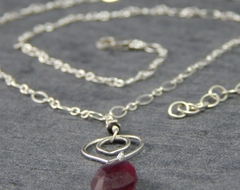 Large tourmaline gemstone necklace, sterling silver chain, tourmaline jewelry, lotus petal necklace, delicate jewelry