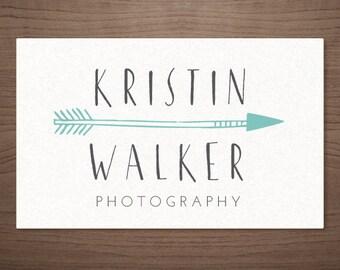 Premade Logo Design for Photographers Arrow - Photography Boutique Wedding Small Business