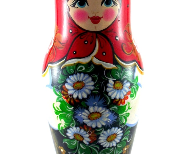Wine bottle holder Matryoshka Nastenka Wood wine holder Wine storage Wine related gift Bar wine accessories Wine bottle storage bar decor