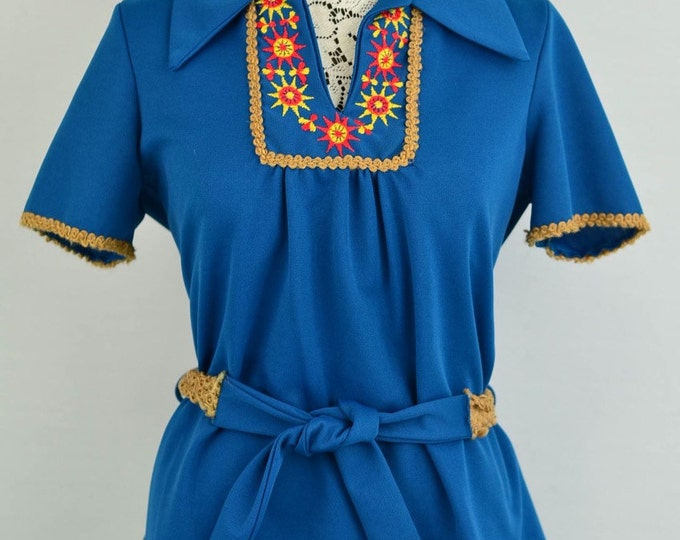 1960s - 1970s vintage top - embroidered accents #1970s #bradybunch #1960s #vintage