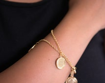 Coin Charm Bracelet, Coin Bracelet, Charm Bracelet, Gold coin, Gold charm bracelet, Gold bracelet, Gypsy Bracelet, Moroccan Bracelet