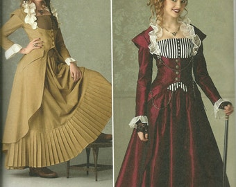 Simplicity 2172 Steampunk fashion. Misses' Victorian era inspired coat, skirt and bustier Sz 14 16 18 20 22 Plus Size