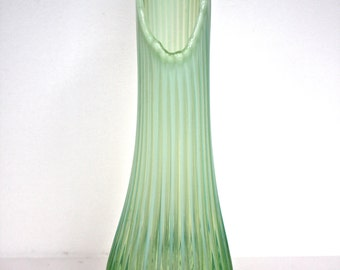 Opaline Ribbed Vase