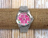 Monogrammed Lilly Pulitzer Inspired Watch - First Impression