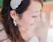 Crystal  Wedding Headpiece, Bridal, Rhinestone Headband - Nadya Headpiece