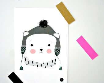 Postcard -Polar bear-