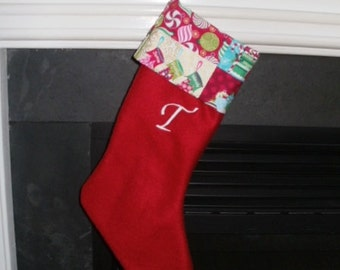 Fleece Christmas Stocking - Initial Personalization