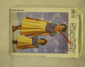Disney Snow White Pattern. Simplicity 7735. Cheapest Shipping. Authorized Snow White Girl's Costume Pattern. Uncut. Out of Print.Size:10&12