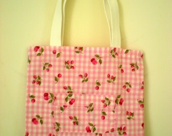 WINTER SALES 50% OFF Strawberry gingham - Tote-bag