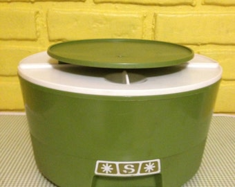 Retro Green Lazy Susan Canister Set (Set of 3)