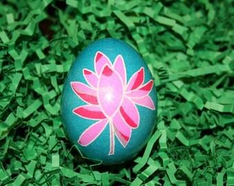 Pink Lotus Flower Ukrainian Egg