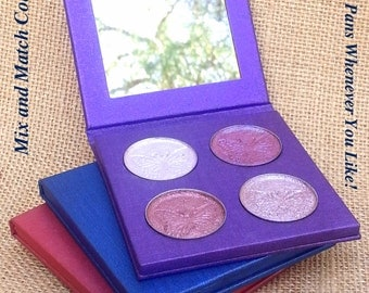 NEW Create Your Own Eyeshadow Palette- Choose Your Palette, Choose Your Colors- Mineral and all Natural, Vegan Friendly