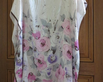 Delicate Pink Silk Blouse,  Womens Silk Tunic,  Silk Blouse