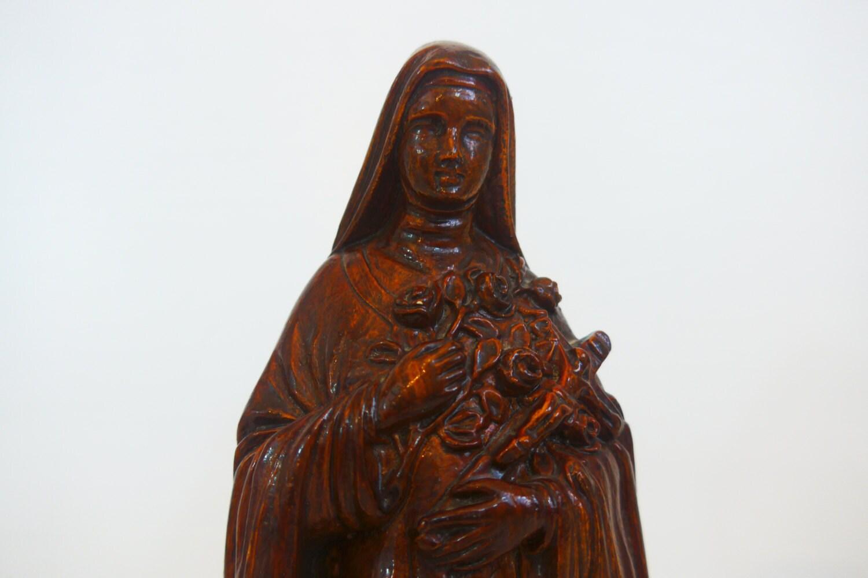 Vintage Statue St Theresa Little Flower of Jesus St