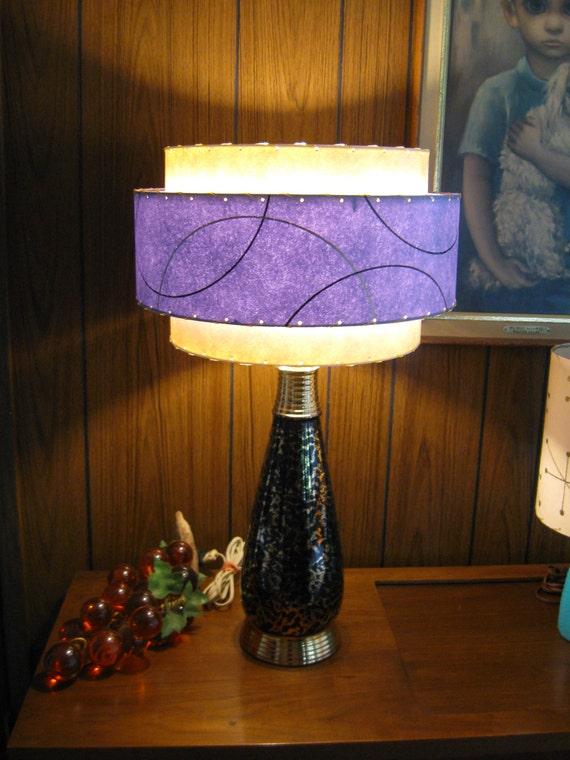 Mid Century Style Tier Fiberglass Lamp Shade Retro Modern