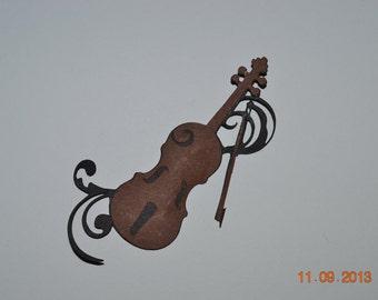 Violin Scrapbooking Card Making Die Cut Embellishment