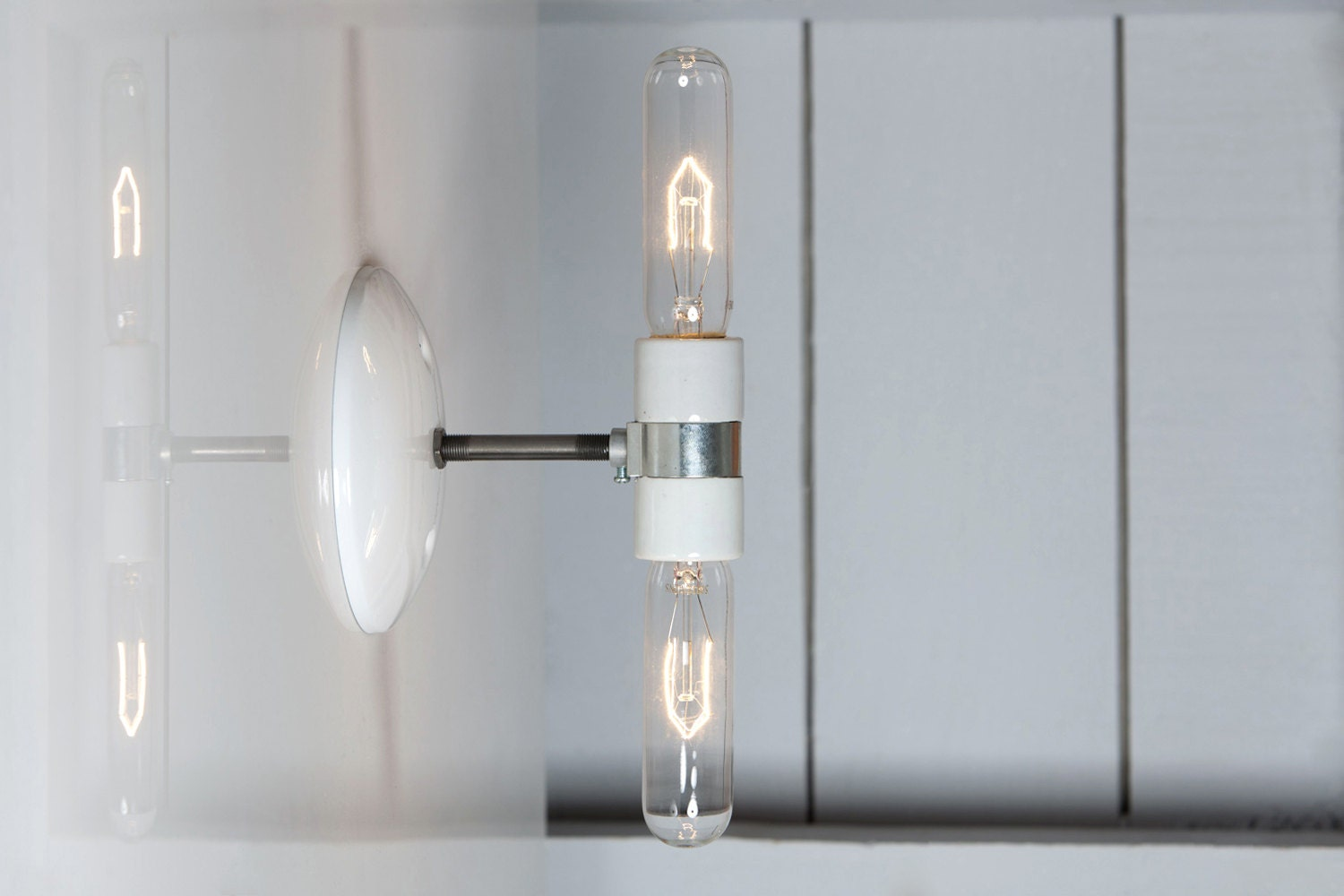 Industrial Style Double Wall Lights : Industrial Wall Sconce Double Wall Light Bare Bulb Wall