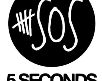 """2.5"""" - 11"""" Five Seconds of Summer 5SOS - Inspired Vinyl Adhesive Decal - DECAL ONLY"""