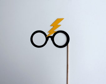 Mature Harry Potter Photo Booth Props - Harry Potter Large Lightning Bolt Glasses