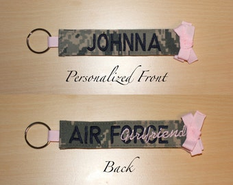 Custom Air Force Keychain with Personalized Name