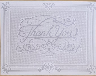 Formal Thank You Cards - 3 pack - Handmade Screenprint with Envelopes