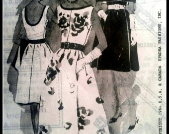 Duchess of Windsor Pattern Produced By Spadea  Misses' Short or long Dress with Stole  Size 12  UNCUT