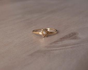 Bahai 9 star - Nine pointed star ring - Bahai star ring -