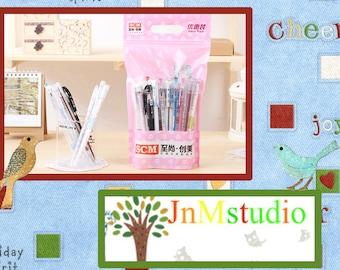 Set of 30 Pen lots Gift pack Drawing writting gel marker pen stationery scrapbook gel pen rollerpen-ZXB017