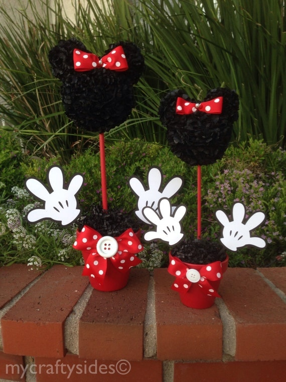 Minnie mouse centerpiece 15 inches minnie mouse party - Activite manuelle decoration ...