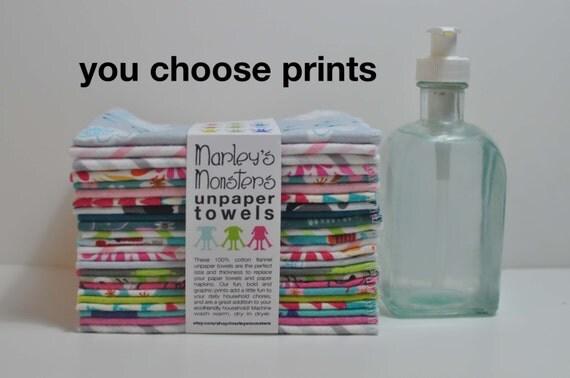 24 UNPAPER TOWELS. You choose prints