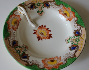 Hand painted porcelain serving dish, made in Japan.