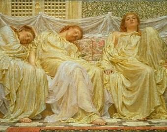 """Albert Joseph Moore : """"Dreamers"""" (1882) - Giclee Fine Art Print"""