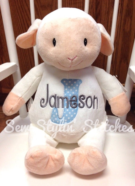 Personalized Stuffed Animal Monogrammed Baby Cubbiebaby