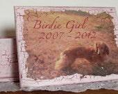 Custom Pet Keepsake Box - Medium - Personalized Pet Memorial Handmade With Your Photo