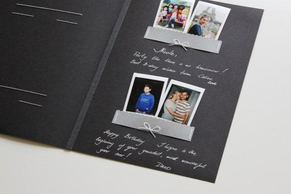 Black Photo Album With Black Pages Black Album Guest Book