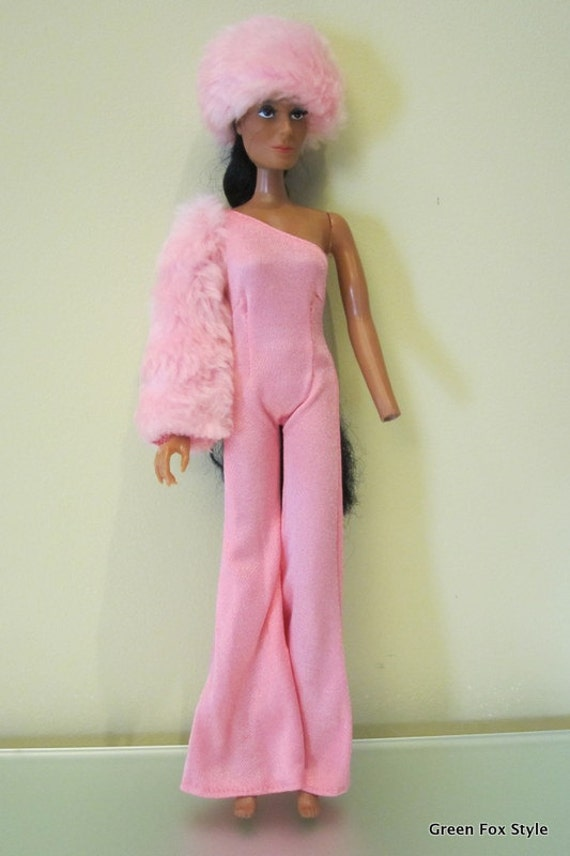 1970 S Cher Doll Pink Panther Outfit By Greenfoxstyle On Etsy