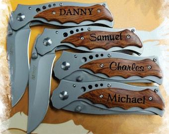 SET of 1 Engraved Pocket Knife, Best man , Boy scout Knife , Monogram Engraving ,Groomsman Gift ,Camping Knife - Hunting Knife