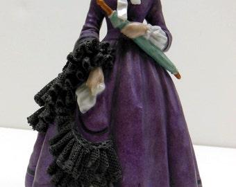 Rare Godey's Porcelain Fashion Figurine June 1863